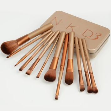12Pcs/Lots new nake 3 makeup brushes,NK3 Makeup Brush kit Sets for eyeshadow blusher Cosmetic Brushes Tool Best Retail Packagig