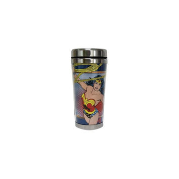 Wonder Woman Dc Comics 16 Oz Travel Mug