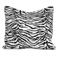 Wake Up Frankie - Faux Fur Animal Print Euro Sham - Black/White Zebra : Teen Bedding, Pink Bedding, Dorm Bedding, Teen Comforters