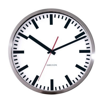 Karlsson Station Wall Clock White
