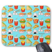 Cute Foods Computer Mouse Pad