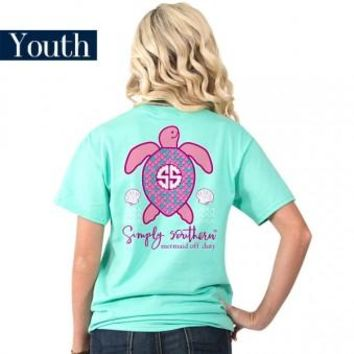 "Youth Simply Southern ""Mertle Turtle"" Short Sleeve Tee"
