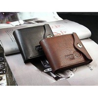 Men PU Leather Bifold ID Cards Holder Coin Small Slim Purse Wallet