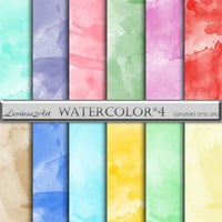 Digital Watercolor Paper Pack for scrapbooking, invites, cards,web design,jewelry making, Digital Collage, Instant Download