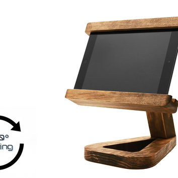 Rotating Wooden iPad, Phone, or Tablet Stand