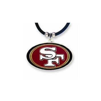 NFL 49ers Enameled Zinc 22 inch Necklace