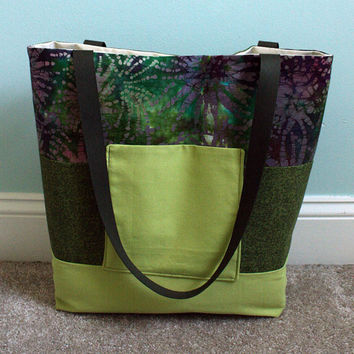 Large Tote Bag Beach Bag Market Tote Color Block by goodmarvin