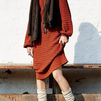 Coralito Plain Round Neck Long Sleeve Oversize Dress Pullover Sweater