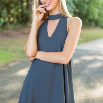 A Heart's Desire Charcoal Grey Dress