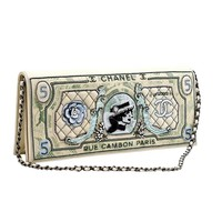 Chanel Runway Dollar Clutch Bag 2014/2015 Very Rare Limited Edition