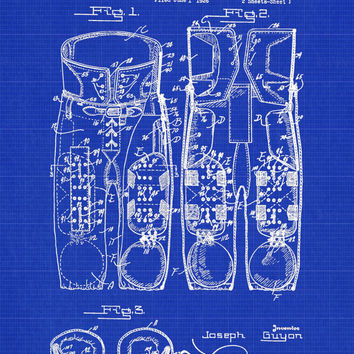 Football Pants Pads Patent Print - Patent Poster - Fooball Patent - Pigskin - Faux Vintage