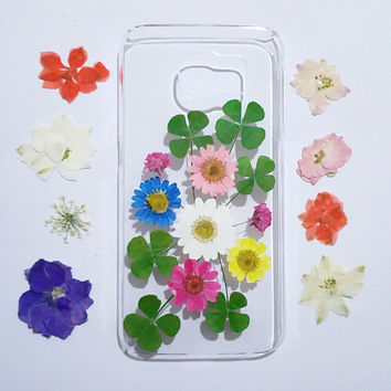 Clear Samsung Galaxy S6 Cases, Samsung Galaxy s5 Case, pressed flower s4 case, Galaxy S6 edge Case flower, pressed flower amsung galaxy case