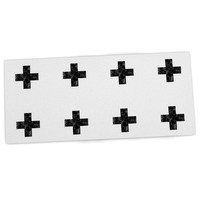 "Skye Zambrana ""Swiss Cross White"" Simple Light Desk Mat"