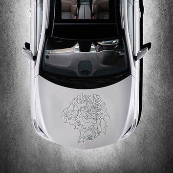 ANIMAL WILD BOAR HOG DESIGN HOOD CAR VINYL STICKER ART DECALS MURALS SV1494