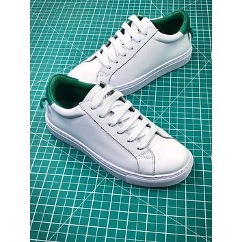 Givenchy Low Top Lace Up White Green Sneakers