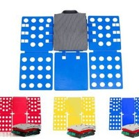 Go Plus the 4th Generation Adjustable Magic Fast Folder Clothes T-shirts Folding Board (Blue)