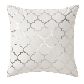Apt. 9 Trellis Gray Foil Throw Pillow (Grey)