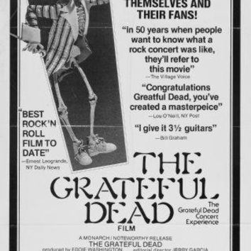 Grateful Dead Poster Standup 4inx6in black and white