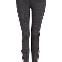 Heathered Piped Running Leggings
