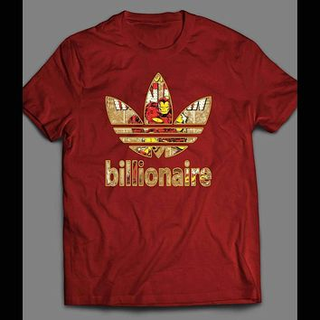 IRON MAN BILLIONAIRE COMIC BOOK ART SPORT T-SHIRT