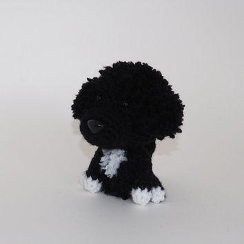 Portuguese Water Dog Stuffed Animal Amigurumi Dog Crochet Puppy Plush Doll / Made to Order