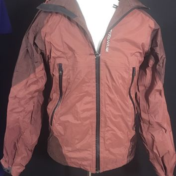 Brown  Columbia Titanium Omni-Tech Waterproof Shell Jacket Men's Size Small