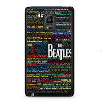 the beatles typography song lyric Samsung Galaxy Note Edge Case