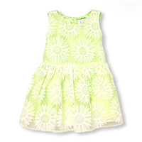 Toddler Girls Sleeveless Daisy Lace Dress | The Children's Place