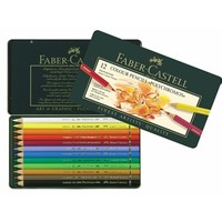 Color Pencil Polychromos tin of 12 for artists and creatives by Faber-Castell