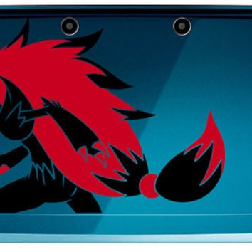 Pokemon Zoroark Shiny or Regular 2 color 3ds or 3ds XL decal