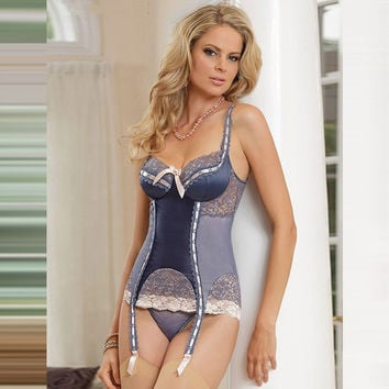 On Sale Hot Deal Cute Corset Dress T-back Sexy Exotic Lingerie [6596464771]