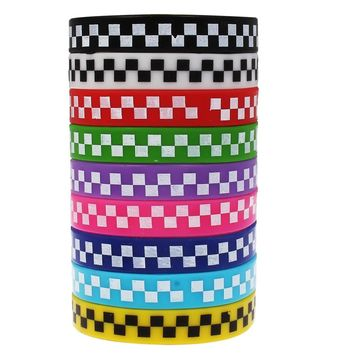 10pcs Team Games Silicone Rubber Diabetes Bracelets for Best Friends Braclet Black Yellow White Braslet For Male Pulsera