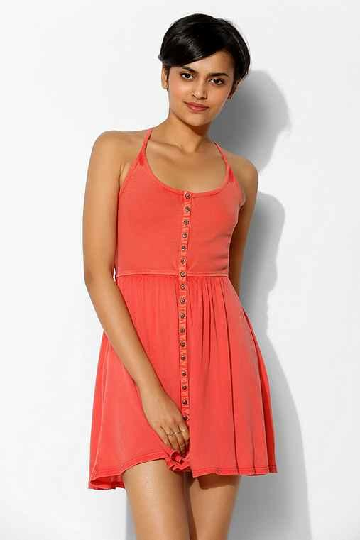 03abf2788233e7 Ecote Moonbeam Button-Front Tank Dress from Urban Outfitters