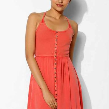 Ecote Moonbeam Button-Front Tank Dress-