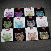 Embroidery Short Sleeve Summer T-shirts [10191550151]