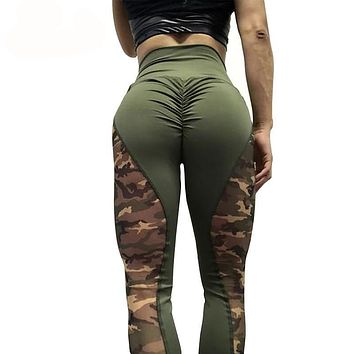 High Waist Women Camouflage Workout Leggings