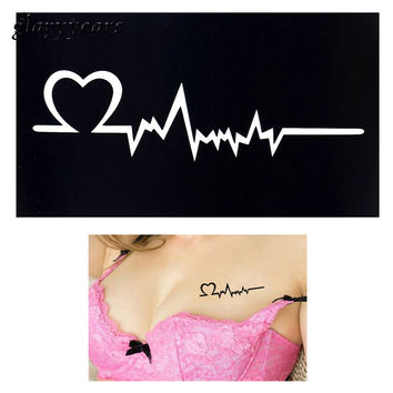 2017 1pc Henna Tattoo Stencil Women Body Art Paint Heart Electrocardiogram Pattern Drawing Small Henna Template Tattoo Paste G91