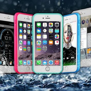 dustproof underwater diving waterproof 360 full cover phone cases cover for iphone 5s 6 6s 6 plus 4 7 5 5 inch  number 1