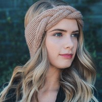 2018 New Women Crochet Knitted Solid Headbands Vintage Cross Knot Elastic Hairbands Bandanas Girls Twisted Hair Accessories
