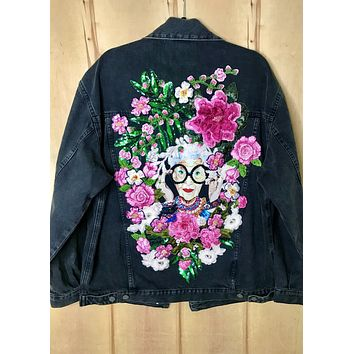 New Iris Fire Denim Jacket SUPER OVERSIZED