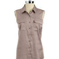 Jones New York Sleeveless Button-Down Blouse