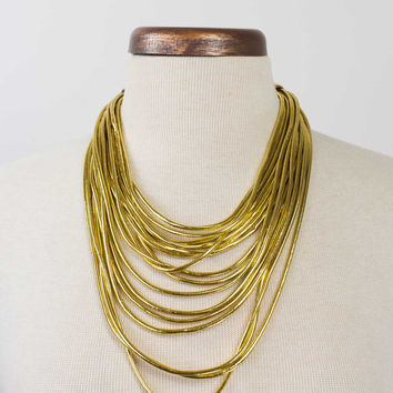 Multi Layered Statement Necklace