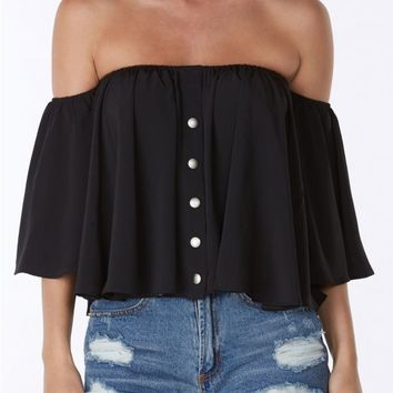 Butterfly Off The Shoulder Top