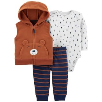 Baby Boy Carter's 3-Piece Little Bear Bodysuit Set | null