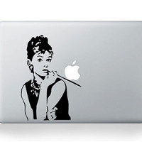 Audrey Hepburn- Macbook Decal Macbook Stickers Mac Decals Apple Decal for Macbook Pro Air / iPad / iPhone
