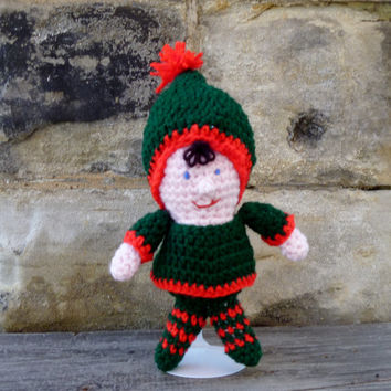 Christmas Elf Doll - Crochet Amigurumi Stuffed Animal/Doll