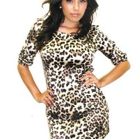 Black and Cream Cheetah Print Dress