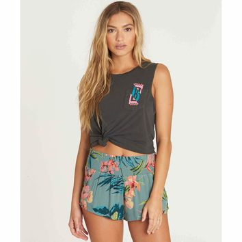 Billabong Women's Waves All Day Smocked Waist Short | Jungle