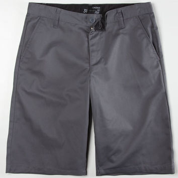 Blue Crown Classic Mens Chino Shorts Gunmetal  In Sizes