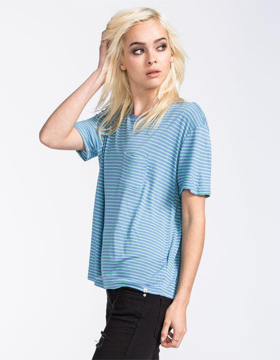 Volcom Lived In Stripe Womens Pocket Tee From Tilly S Epic